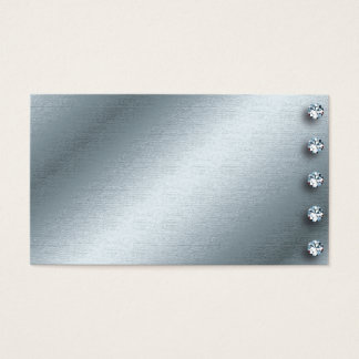 Silver and Diamond Business Card Design