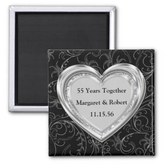 Silver and Diamonds Anniversary Magnet