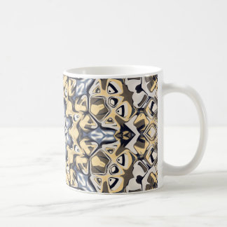 Silver And Gold Abstract Coffee Mug