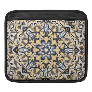 Silver And Gold Abstract iPad Sleeve