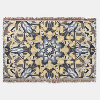 Silver And Gold Abstract Throw Blanket