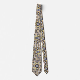 Silver And Gold Abstract Tie