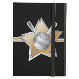 Silver and Gold Baseball and Star iPad Air Cover