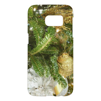 Silver and Gold Christmas Tree I Holiday Samsung Galaxy S7 Case
