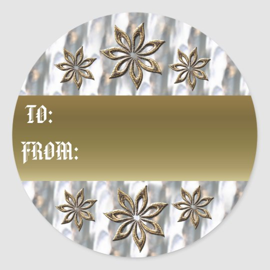 Silver and Gold gift tag
