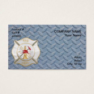Silver and gold maltese  firefighting cross business card