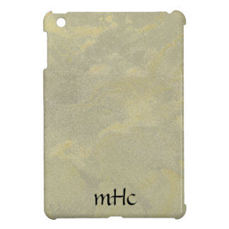 Silver And Gold Metallic Plaster iPad Mini Cases
