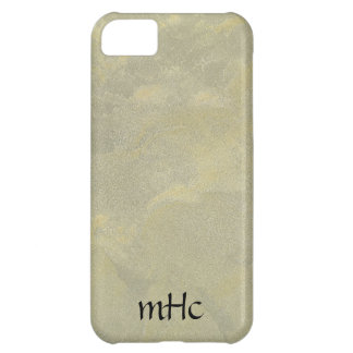 Silver And Gold Metallic Plaster iPhone 5C Cases