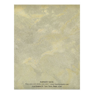 Silver And Gold Metallic Plaster Letterhead