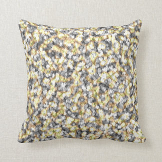 Silver and Gold Pebbles Throw Pillow
