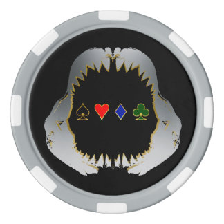 Silver and Gold Poker Shark Chips