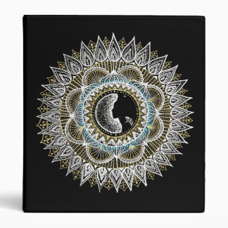 Silver and Gold Woman Mandala Vinyl Binder