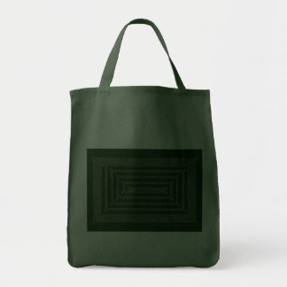 Silver And Green Celtic Rectangular Spiral Tote Bag