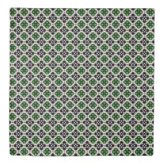 Silver and Green Holiday Bling Duvet Cover