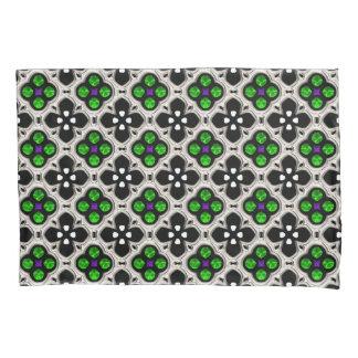 Silver and Green Holiday Bling Pillowcase