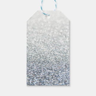 Silver and grey glittery gift tags