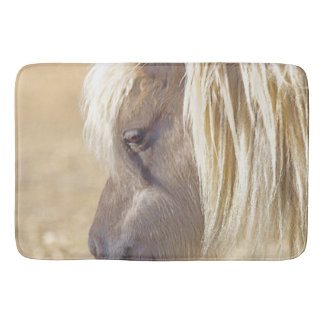 Silver and Grey in Sunlight Bath Mat Western Horse