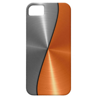 Silver and Orange Stainless Steel Metal iPhone 5 Covers