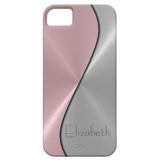Silver and Pink Stainless Steel Metal iPhone 5 Covers