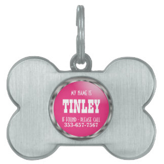 Silver and Pretty Pink | DIY Name Pet Tag
