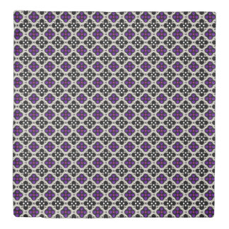 Silver and Purple Holiday Bling Duvet Cover