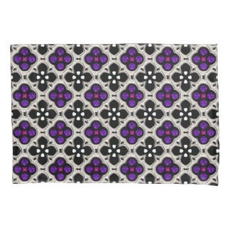 Silver and Purple Holiday Bling Pillowcase