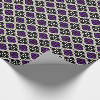 Silver and Purple Holiday Bling Wrapping Paper