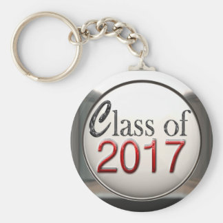 Silver And Red Class Of 2017 Graduation Keychain