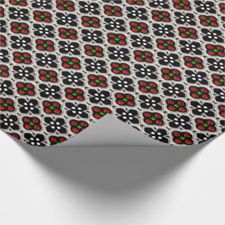 Silver and Red Holiday Bling Wrapping Paper