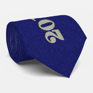 Silver and Royal Blue Bling Future Class of 2019 Tie