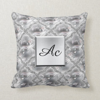 Silver and Shinny Pillow