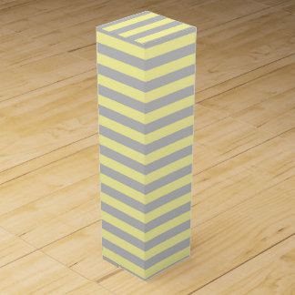 Silver and Soft Yellow Stripes Wine Box