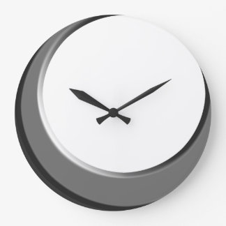 Silver and White Retro Modern Kitchen Wall Clock