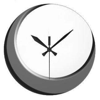 Silver and White Retro Modern Kitchen Wall Clock