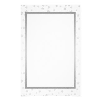 Silver and White Stationery
