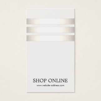 Silver and White Striped Promotional Price Tag Business Card