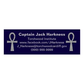 Silver Ankh Profile Card Mini Business Card