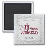 Silver Anniversary Fridge Magnets