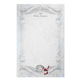 Silver Anniversary Stationery Paper