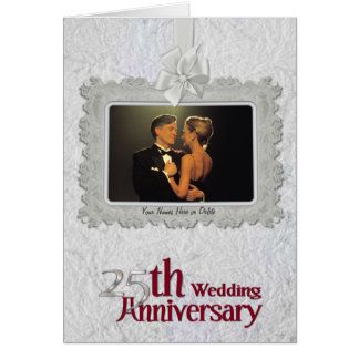 Silver Anniversary -Wide Photo Window Card