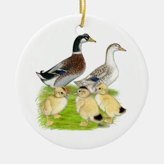 Silver Appleyard Family Round Ceramic Ornament