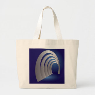silver arcade tunnel large tote bag