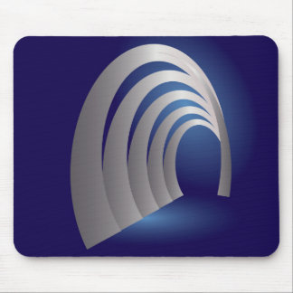 silver arcade tunnel mouse pad