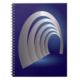 silver arcade tunnel notebook
