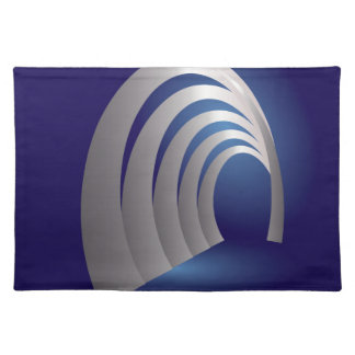 silver arcade tunnel placemat