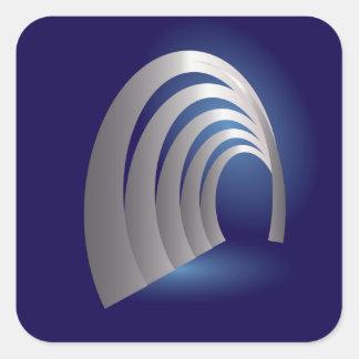 silver arcade tunnel square sticker