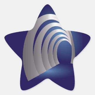 silver arcade tunnel star sticker