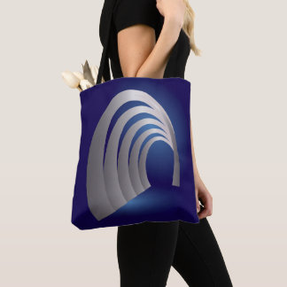 silver arcade tunnel tote bag
