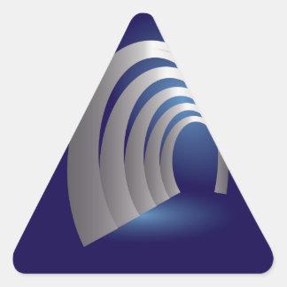 silver arcade tunnel triangle sticker