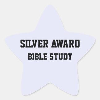 SILVER Award Bible study sticker